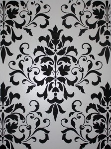 Black and White Damask - Classic Fauxs and Finishes