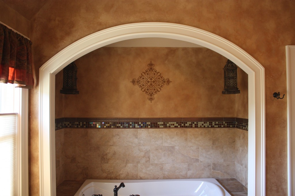 master bathroom metallic glaze wall finish classic fauxs. Black Bedroom Furniture Sets. Home Design Ideas