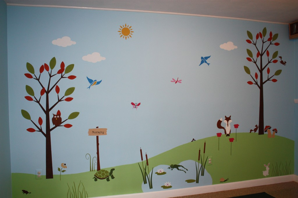 Children 39 s wall mural classic fauxs finishes for Childrens wall mural