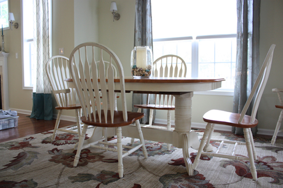 chalk painted dining room set classic fauxs finishes