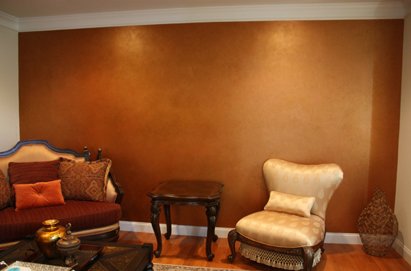 Metallic Multi Colored Accent Wall Classic Fauxs Finishes