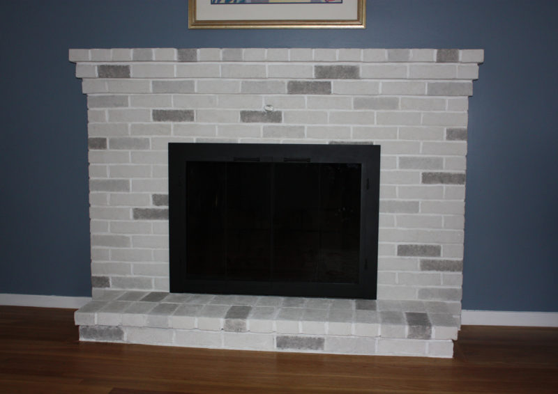 Brick Fireplace Makeover Burlington
