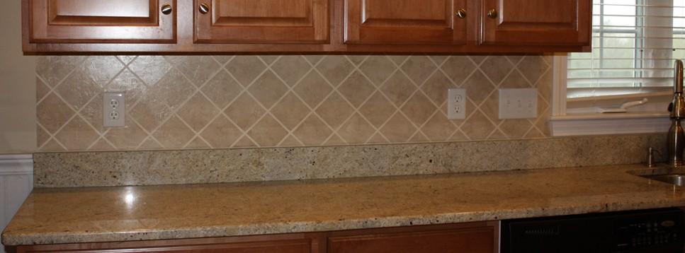A shot of a kitchen backsplash from Classic Fauxs and Finishes Portfolio