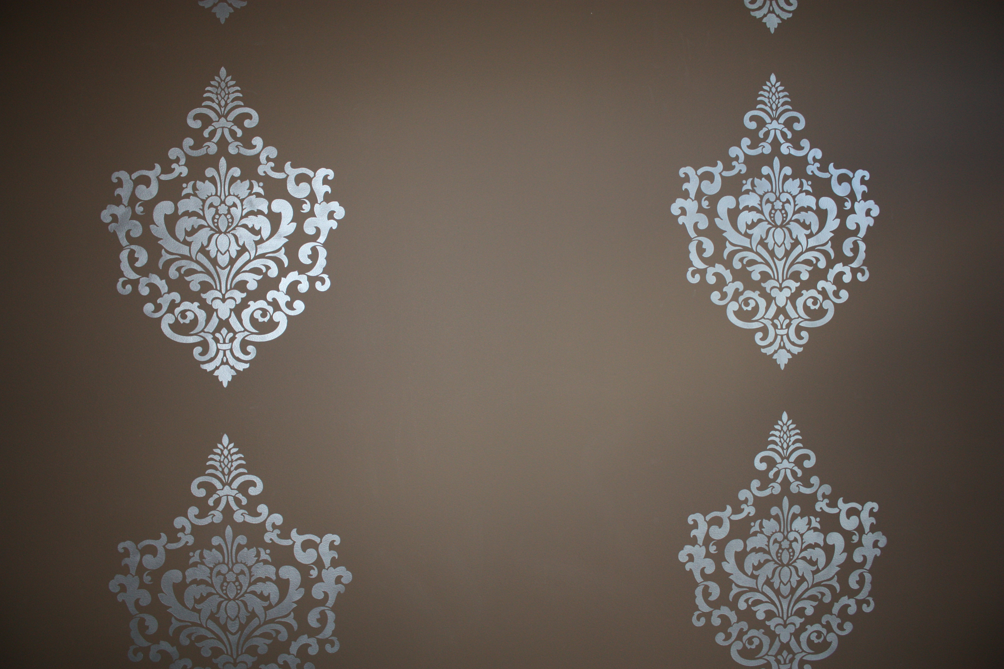 Damask Stenciled Accent Wall Classic Fauxs Amp Finishes
