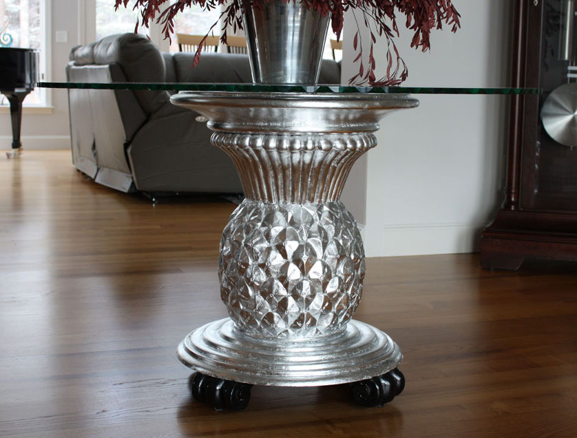 Silver Leaf Accent Table