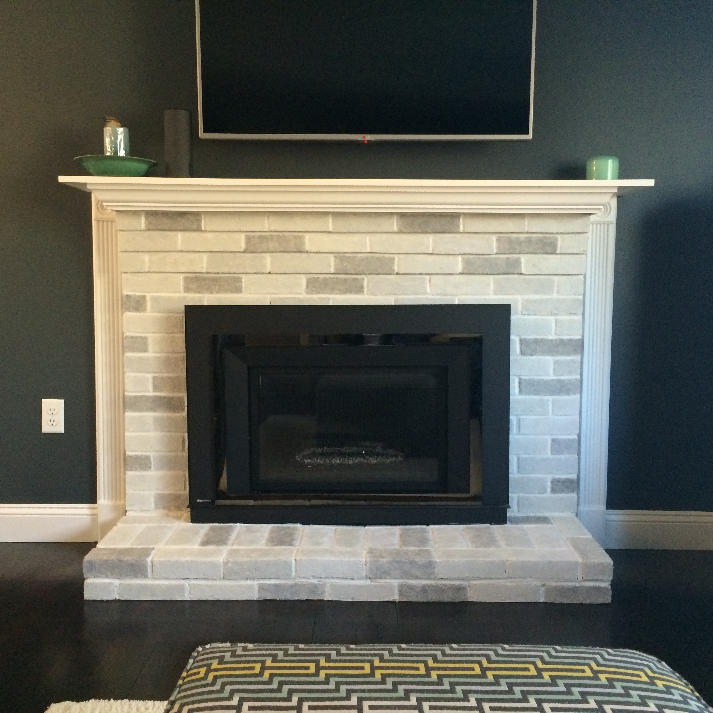 Shades of Gray Fireplace Makeover