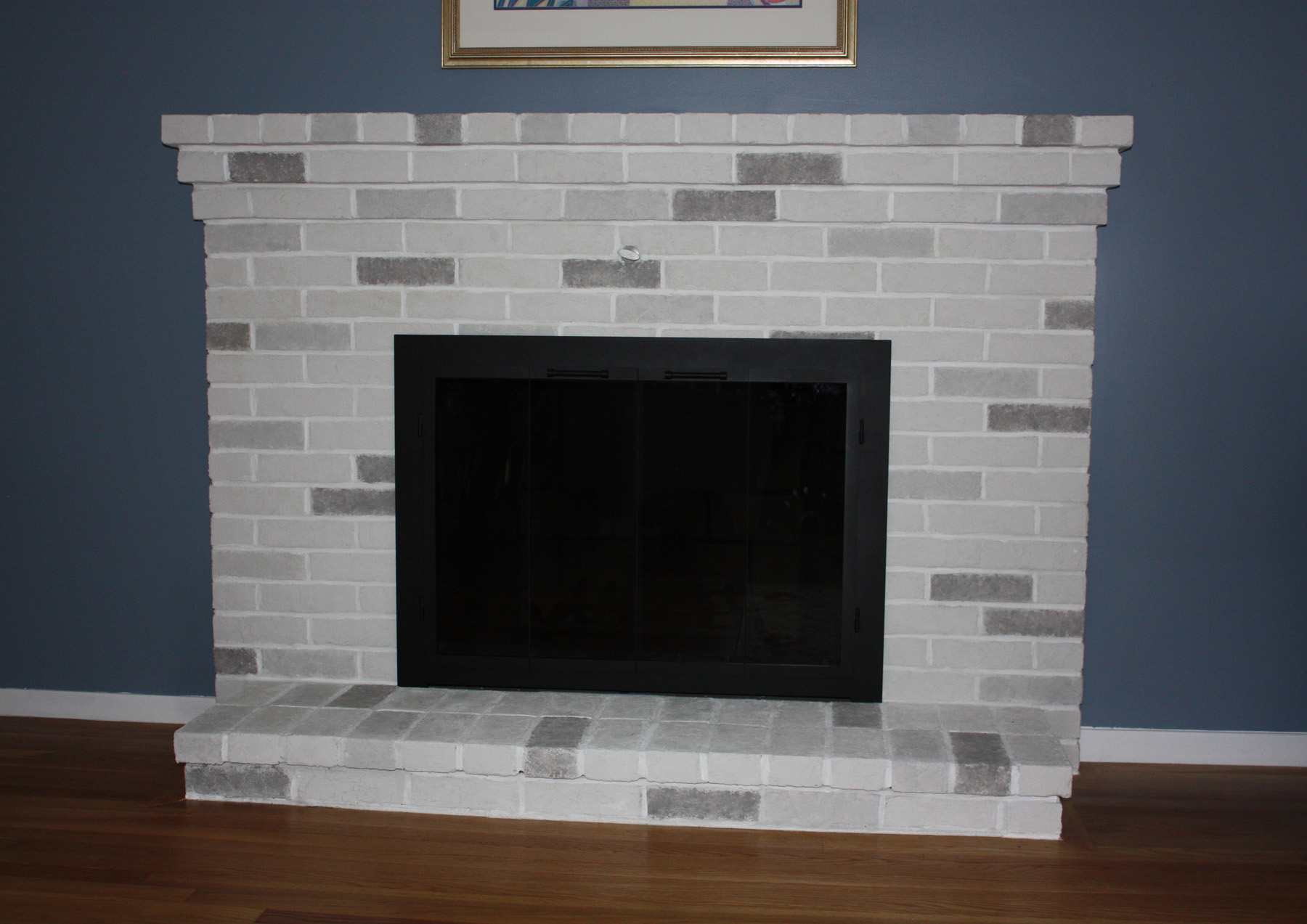 textured plaster fireplace