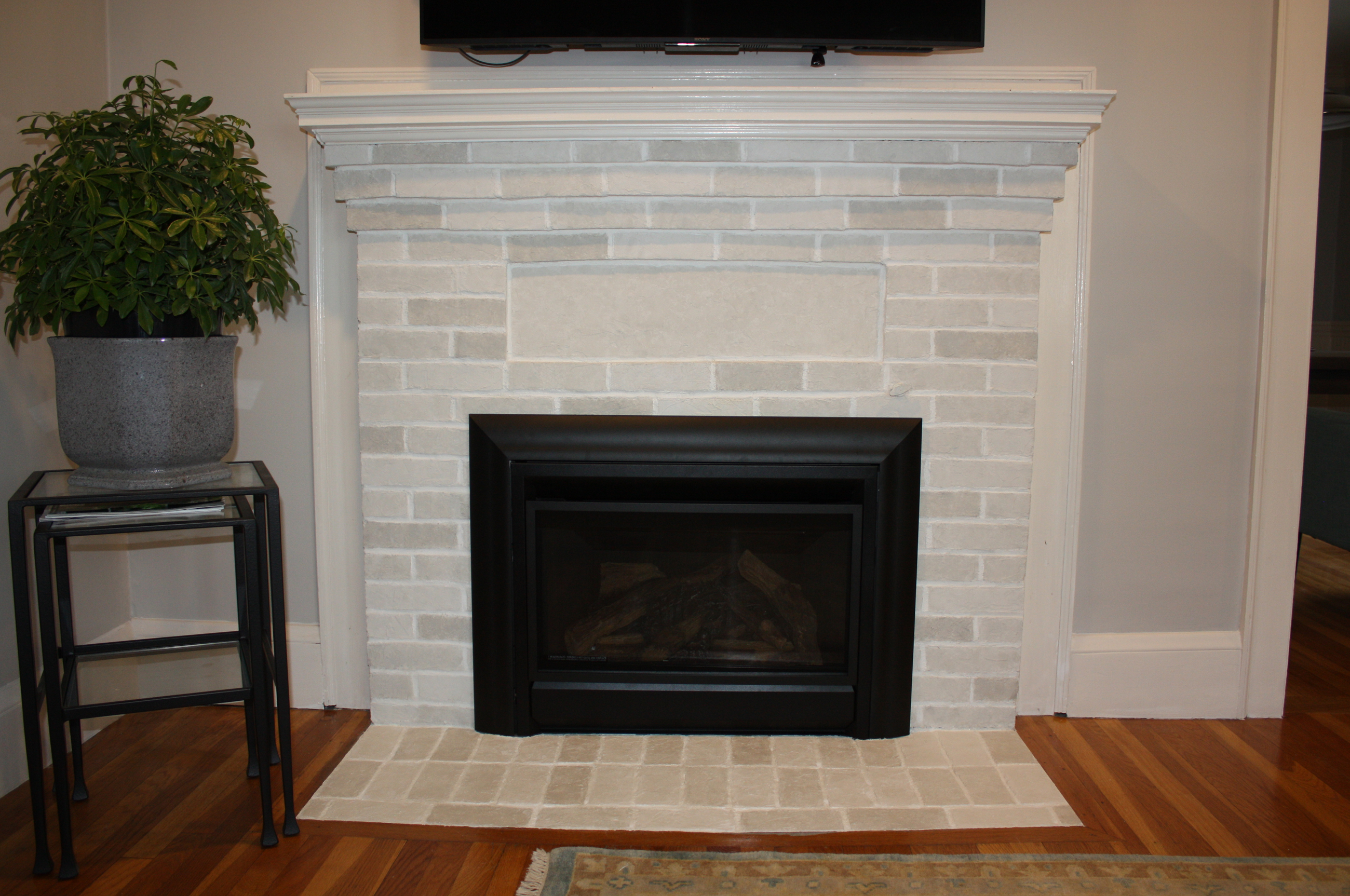 1930's Fireplace Brick Refurbish